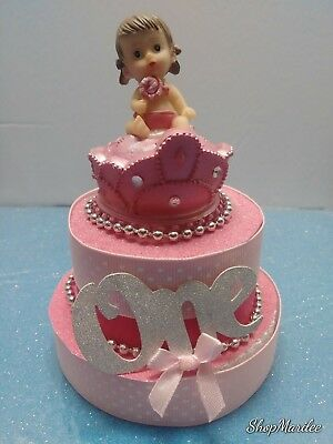 Terrific Princess Crown 1St First Birthday Cake Topper Table Decoration Ebay Personalised Birthday Cards Veneteletsinfo