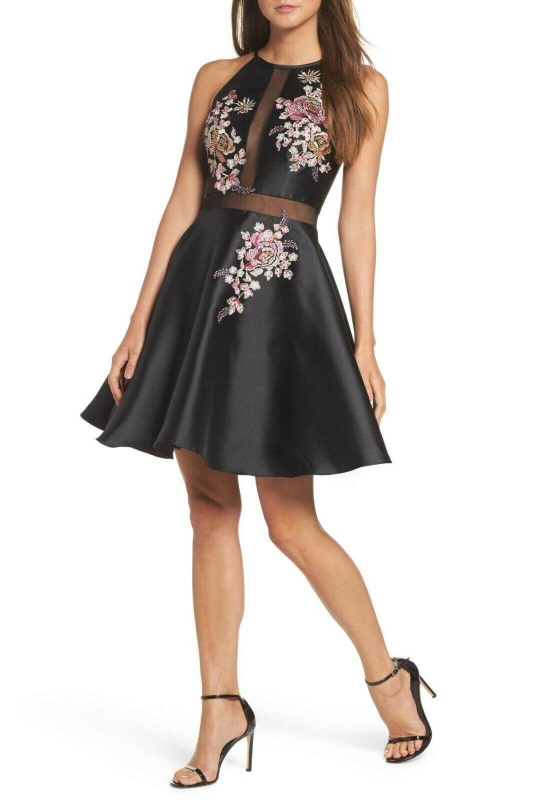 165223d971 XSCAPE Embroidered Party Dress MSRP Size 2 A 90 NEW Mikado ...