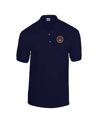 United States Navy Seal EMBROIDERED Navy Blue Polo Shirt NEW US Navy | eBay