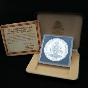 Commonwealth Of Bahamas Silver $10 Proof Coin 1978 Prince Charles Certified +