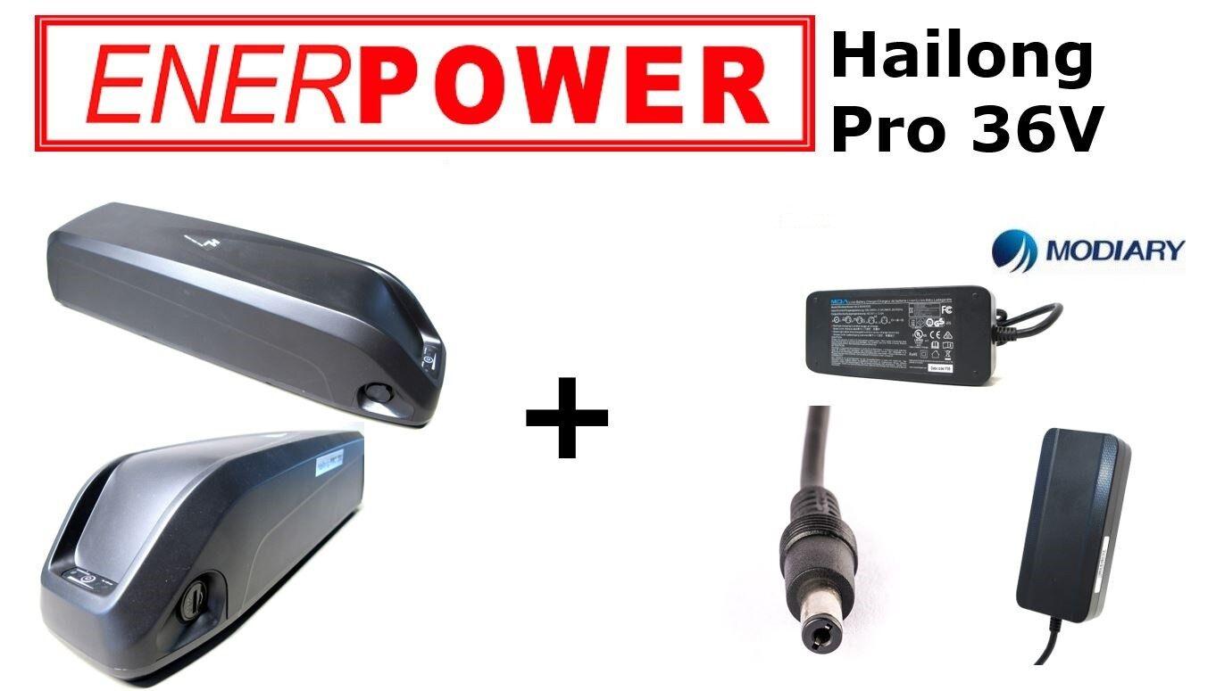 ENERPOWER Hailong Pro 36v 37v quadro Liion Batteria 17,50ah GA  caricatore 3a