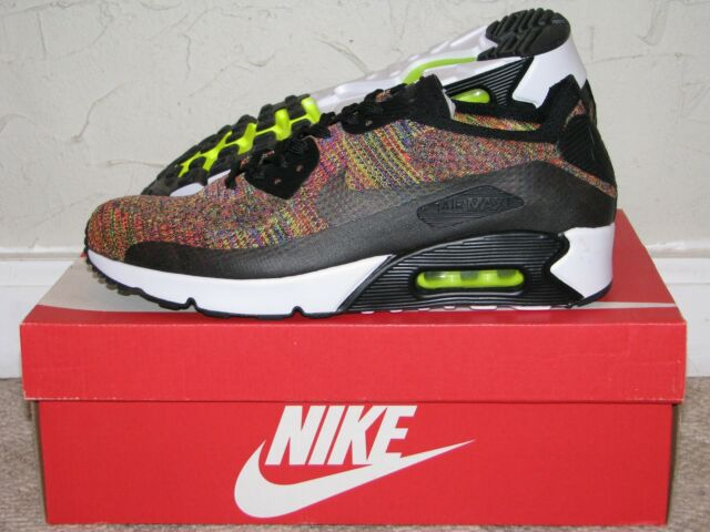 70fb2e57a9d Nike Air Max 90 Ultra 2.0 Flyknit Black   Multicolor Mens Size 10 DS NEW!