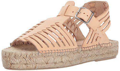 LOEFFLER RANDALL Womens Reid Woven Leather Espadrille Wedge Sandal 8