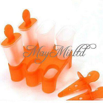 DIY 6 Cell  Ice Cream Pop Mold Popsicle Maker Lolly Mould Tray Pan Kitchen G
