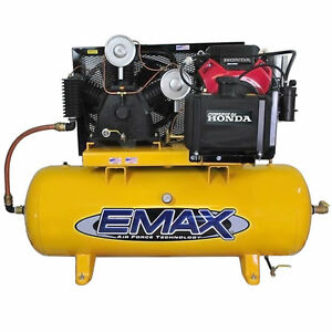 Emax 24 Hp 120 Gallon Two Stage Truck Mount Air Compressor