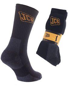 3 Homme Heavy Duty Long Coton Riche de sécurité travail chaussettes Boot UK 6-11