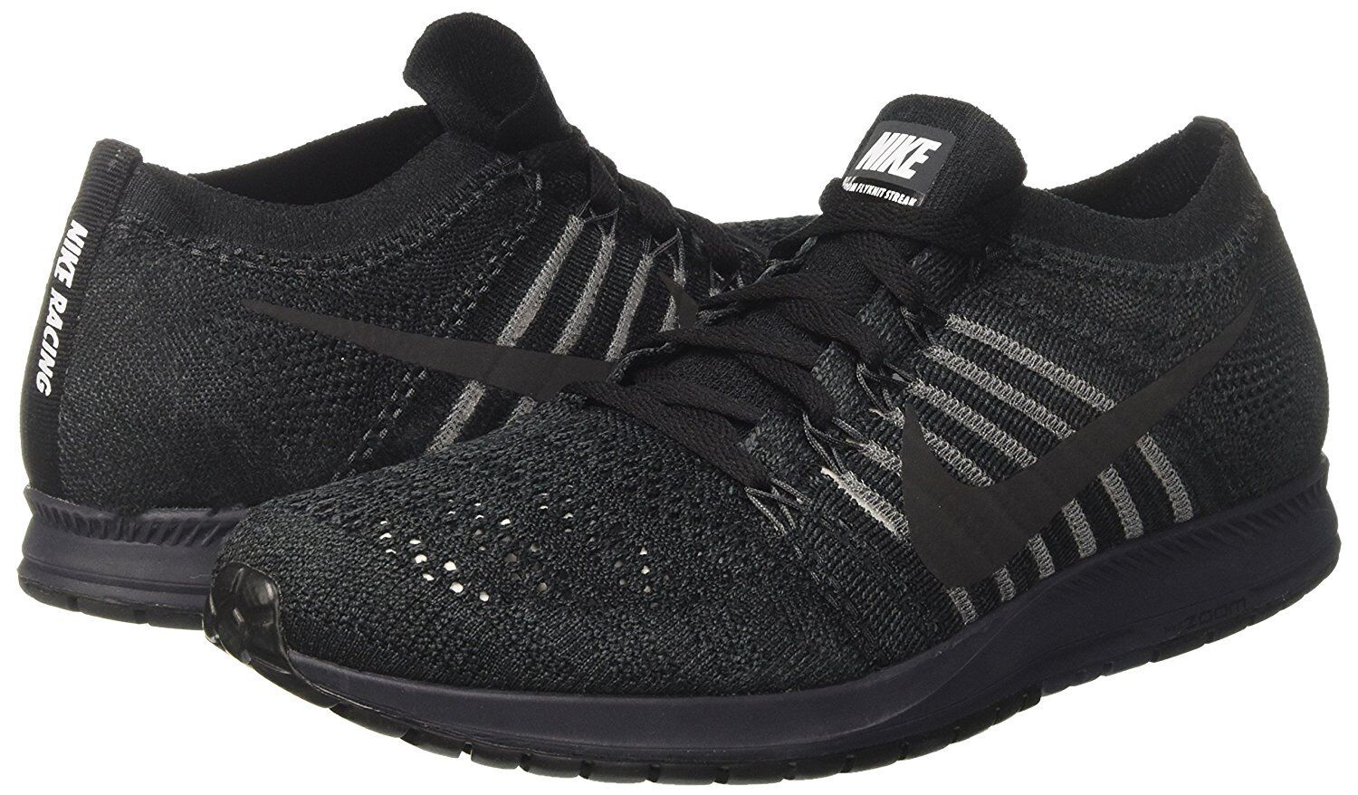 3040d09567a27 Nike NikeLab Zoom Flyknit Streak Running Shoes Black 904711 001 Reflective  for sale online