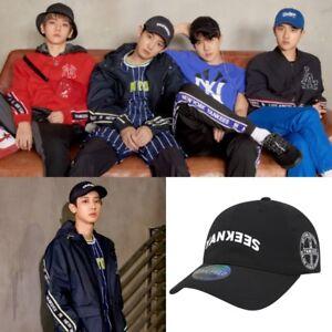 NEW MLB X EXO Baseball Cap Adjustable Chan-Yeol Park Suho Sehun ... 42e365dbe68