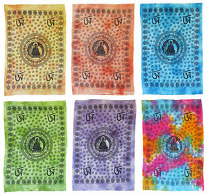 Batiktuch-BUDDHA-115x75-cm-Om-Aum-Wandbehang-Wanddeko-Budda-Budha-Siddhartha