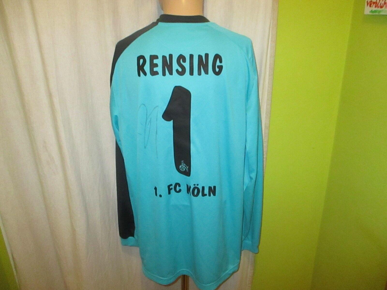 1.FC Köln Reebok Torwart Trikot 2011 12  REWE  + Nr.1 Rensing + Signiert Gr.XXL  | Elegant Und Würdevoll