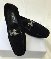 Mens Giovanni Shoes Loafer Fashion Italian Casual Slip-on Suede Solid Black