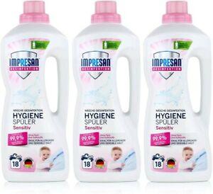 Impresan Hygiene-Spüler Sensitiv: Wäsche Desinfektion – Hygienespüler - 3 x 1,5L