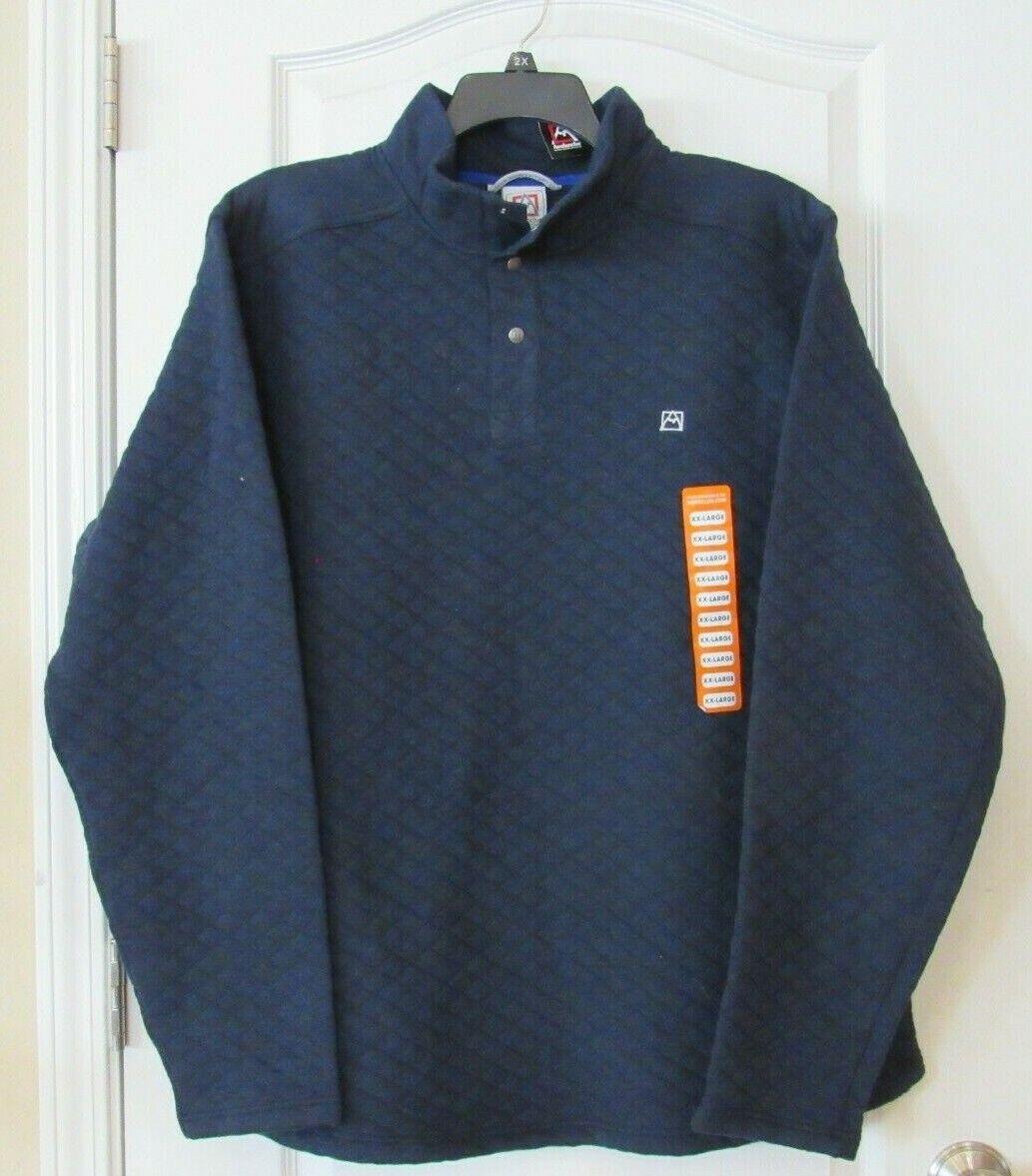 Avalanche Mock Neck Pullover Sweatshirt INDIGO Men's Sz XXL NWT