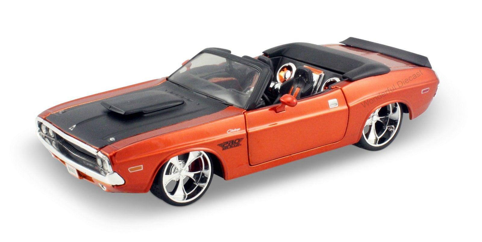 Maisto 1 24 1970 Dodge Challenger R  T tärningskast modellllerler Sports tävlings Bil Fordon