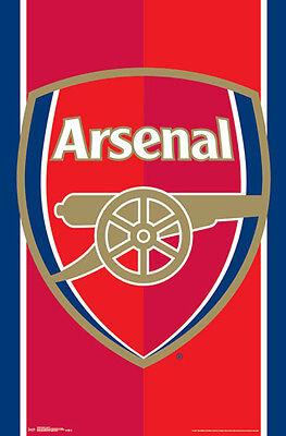 Arsenal Fc Official Gunners Epl Premier League Team Crest Logo Wall Poster Ebay