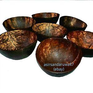 Coconut Shell Bowl Halves 100/% Natural Reusable Fruit Salad Noodle Rice Bowls