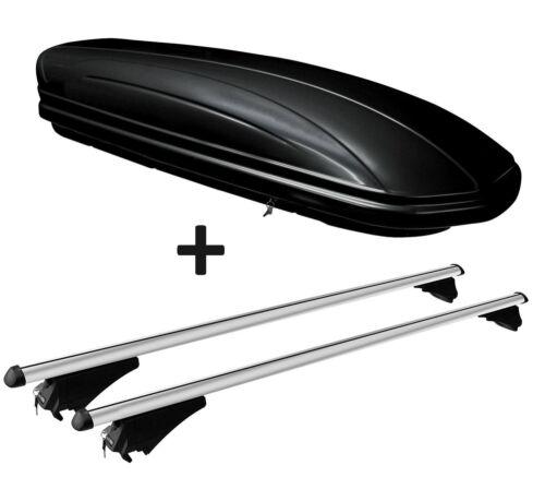 Dachbox MAA320L+Alu-Relingträger Quick aufl Reling für Audi A4 B9 Avant ab 15