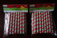 2 Packages Of Creatology Holiday Paper Straws 4 48 Pieces Total