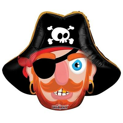"Pirate Birthday Party Decoration Pirate Shaped Air Fill 14"" Foil Balloon"