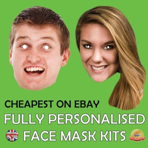 Custom Made Face Mask Fully Personalised Photo Stag Hen Birthday Party New b