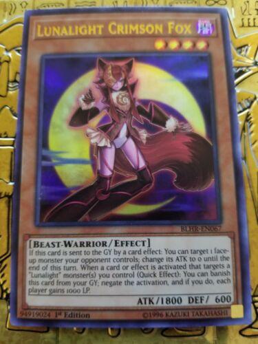 BLHR-EN067 Ultra Rare Card YuGioh Lunalight Crimson Fox NM 1st Ed.