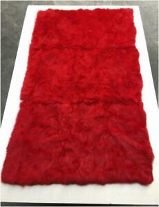 Real Rabbit Fur Blanket /& Real Fur Carpet Rug Throw Leather Cosy Suitable Carpet