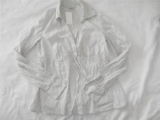 Women's Mimi Maternity Black & White Striped Blouse Size S - NWT