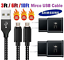 miniature 1 - 3/6/10Ft Micro USB Fast Charger Data Sync Cable Cord For Samsung LG HTC Android