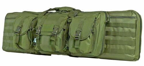 "VISM Double Carbine Case 42/"" Tactical Dual Rifle Range Bag Shooting Hunting ODG"