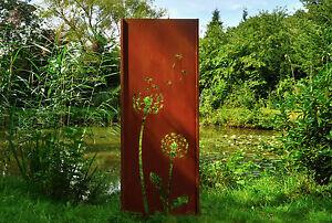Gartenwand Sichtschutz Wand Pusteblume 2 Stahl Rost 75x195 Cm Ebay