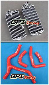 GPI R&L aluminum radiator + RED hose FOR Honda CRF450R/CRF 450 R 2015 2016 15 16