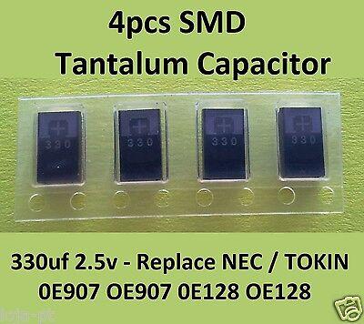 4 x SMD Tantalum Capacitor 330uf 2.5V -Replace WR2R5901  & NEC/TOKIN 0E907 0E128