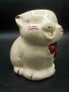 Vintage Shawnee Pottery Kitty Cat Creamer Pitcher Puss N Boots Exc!