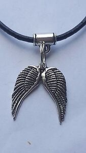 CELTIC TRIQUETA  CHARM ON 2MM  BLACK LEATHER CHOKER  CHARM NECKLACE 14 INCHES