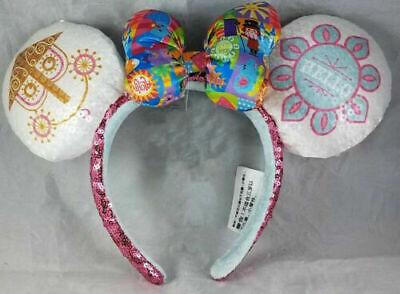 Disney Parks it/'s a small world Clock Minnie Mouse Sequin Ears Headband