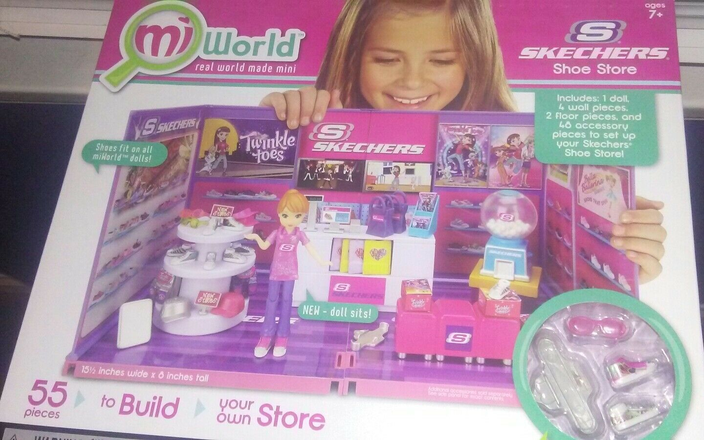 Mi World Skechers shoes Store Miworld Build Your Own Store 55 Pieces new