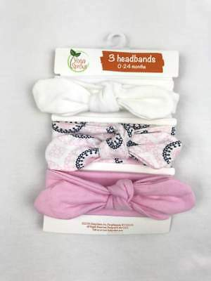 NWT YOGA SPROUT BABY GIRLS 3 PACK COTTON HEADBANDS 0-24MONTHS 5 VARIETIES