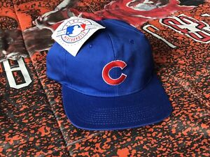 BNWT-Vintage-1990s-Chicago-Cubs-Gatorade-Snapback-Hat-by-Signatures-Sportswear