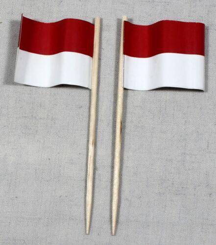 Party-Picker Indonesien 50 Profiqualität Dekopicker Papierfähnchen Food Flagge