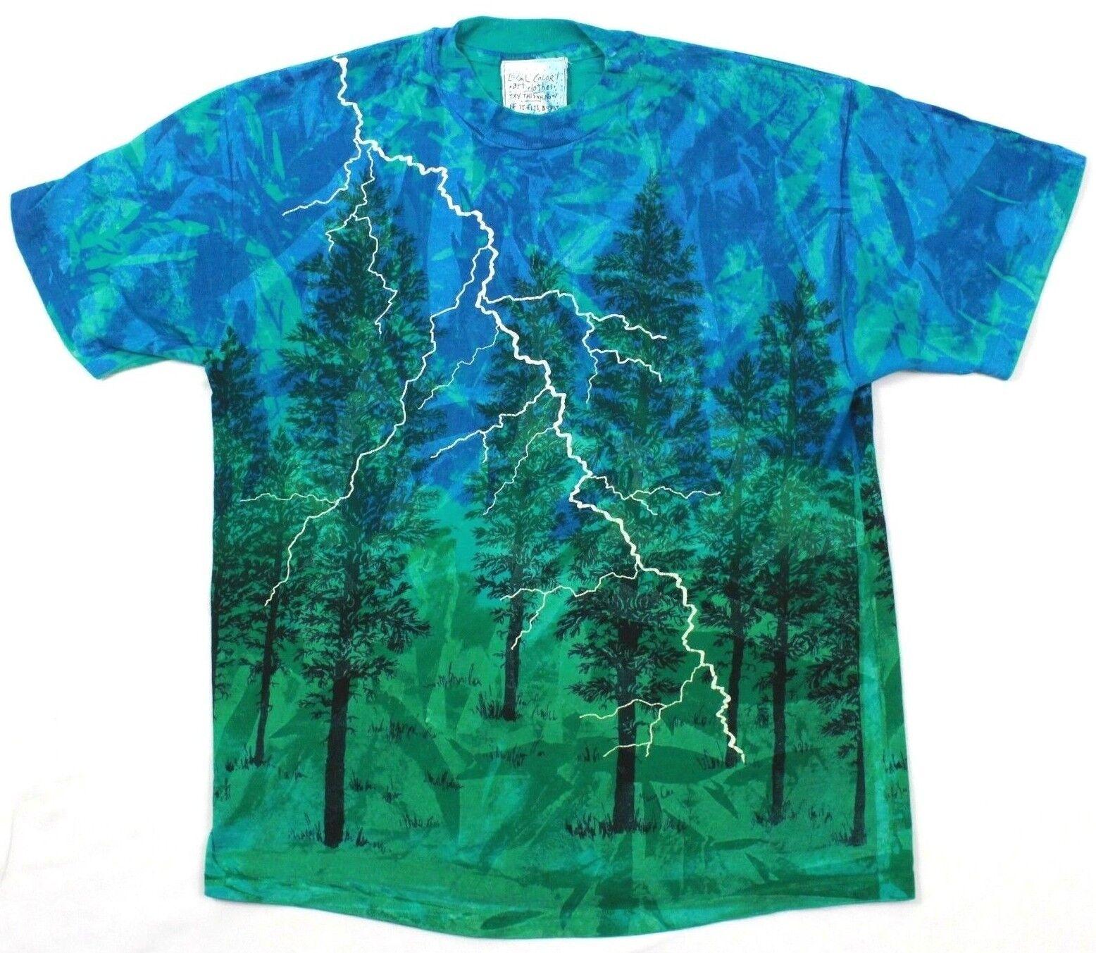 24.4ms Farbe Kunst Kleidung T-Shirt Künstler Signiert Landschaft Batik Einzel
