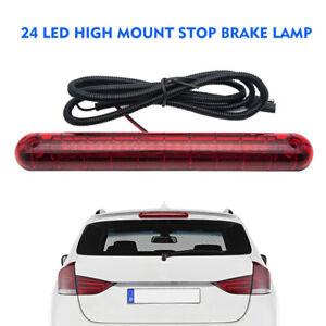 Universal Car Third 3RD Rear Tail Light High Mount Stop Brake Lamp 24 LED Red UK