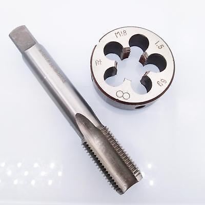 New 1pc HSS Machine M16 X 0.5mm Plug Tap and 1pc M16 X 0.5mm Die Threading Tool