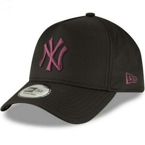 Black New Era NY Yankees Ripstop AFrame 9Forty Cap Maroon