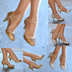 fbce584572 Image is loading Ladies-Diamante-Sparkly-Low-Heel-Ankle-Strap-Sandals-