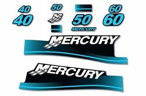 USA MADE Mercury 200 Sticker Decals Outboard Engine Graphic Kit EFI Sticker SKUL