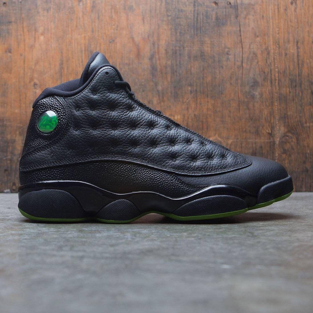 Nike air jordan 13 xiii retrò altitudine nero - verde taglia 414571-042