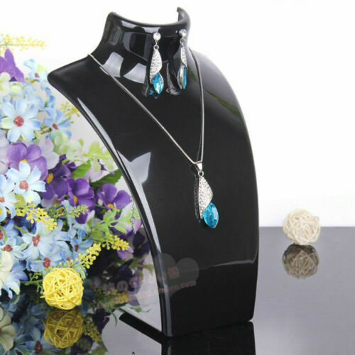 Acrylic Mannequin Bust Jewelry Necklace Pendant Earrings Gift Display Holde O3Q1