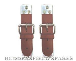 Classic Mini, Classic Car tan/brown leather bonnet straps pair, new