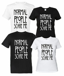Normal-People-Scare-Me-Maglietta-T-Shirt-Uomo-Donna