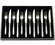 Stellar Winchester Stainless Steel 12 Piece Steak Knife & Fork Set - BW36